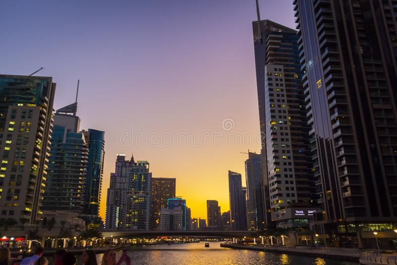 Район Марины Дубай стоковые изображения rf
