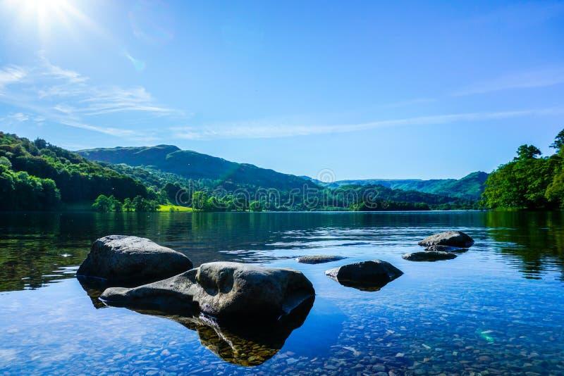 Район озера Grasmere, озера, Великобритания стоковая фотография rf