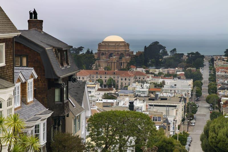 Район Сан-Франциско Presidio жилой стоковое изображение rf