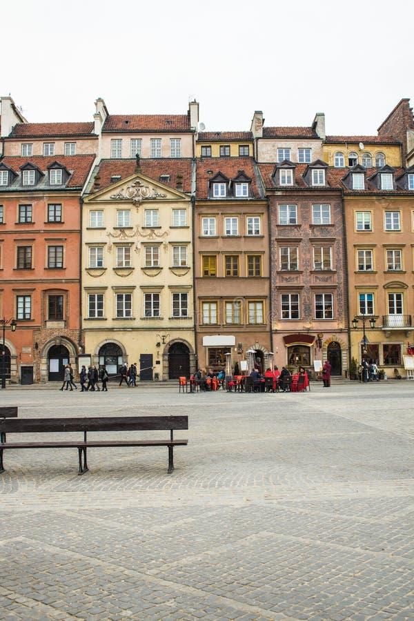 Район старого городка в Варшаве, Польше стоковые изображения