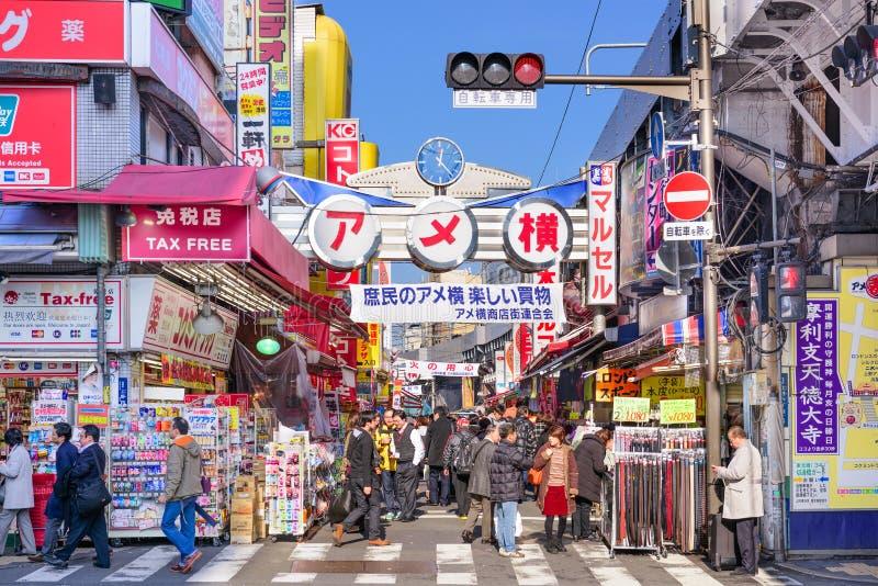 Район Ameyoko токио стоковые фото