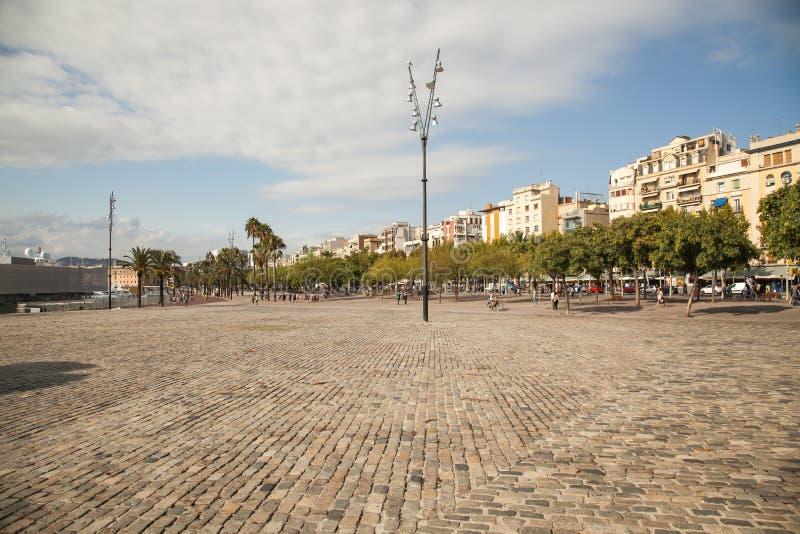 Район Barceloneta, Барселона стоковые фотографии rf