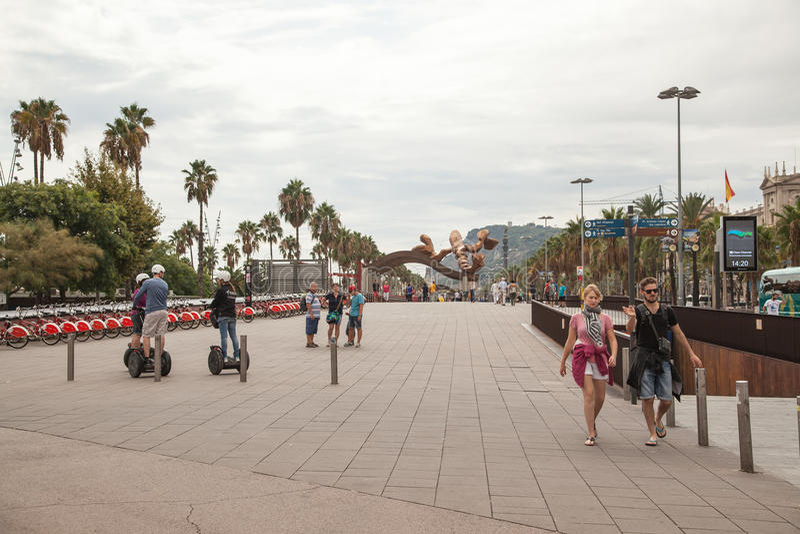 Район Barceloneta, Барселона стоковые изображения rf