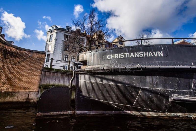 Район Christianshavn в Копенгагене, Дании стоковые фотографии rf