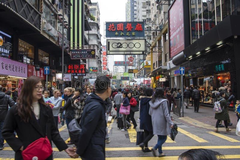 Район Mong Kok в Гонконге стоковые изображения rf
