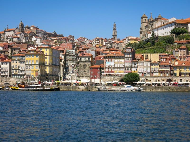 Район Ribeira в Порту стоковое фото rf