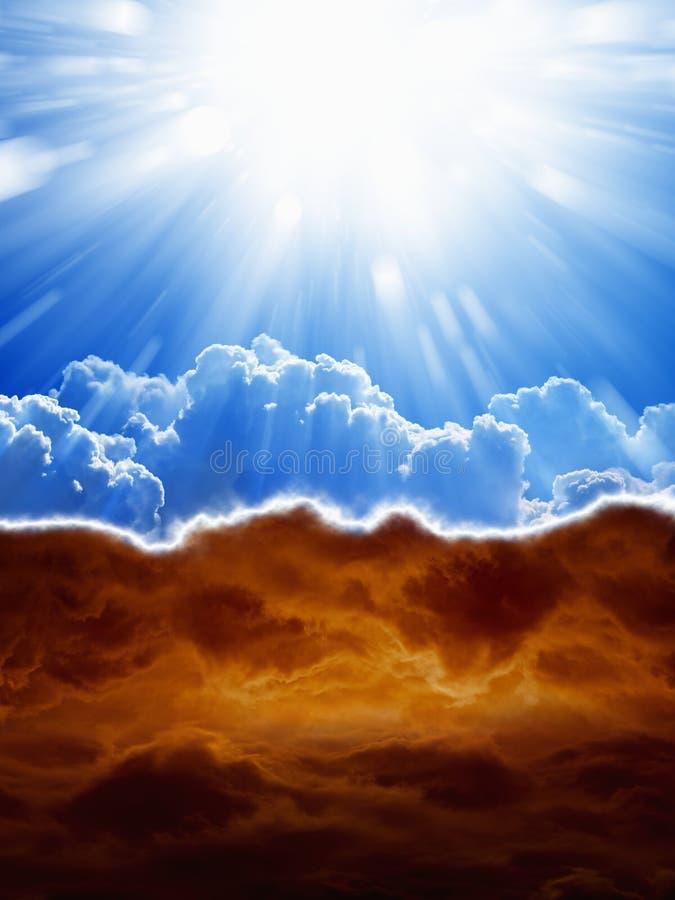 Рай и ад стоковое изображение rf