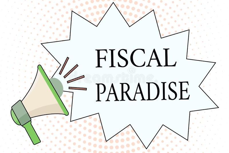 Рай текста сочинительства слова фискальный Концепция дела для отхода общественных денег тема огромного беспокойства иллюстрация вектора
