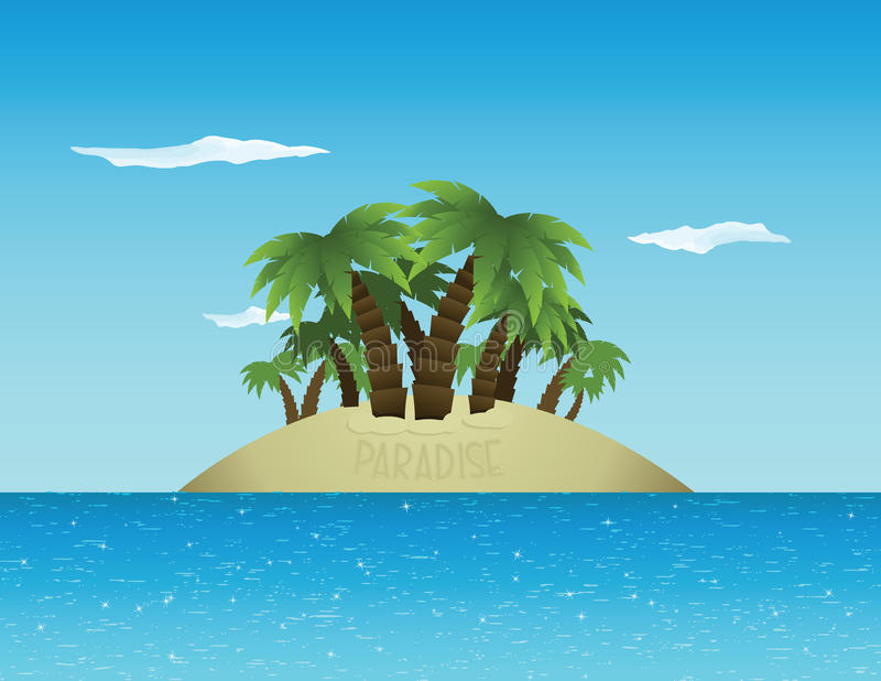 рай тропический иллюстрация вектора
