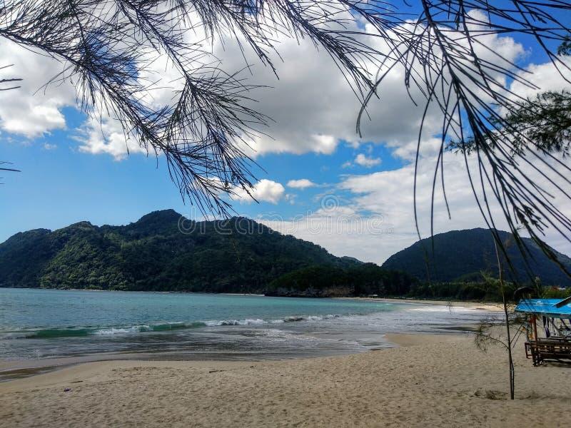 Рай тропического пляжа стоковое изображение rf