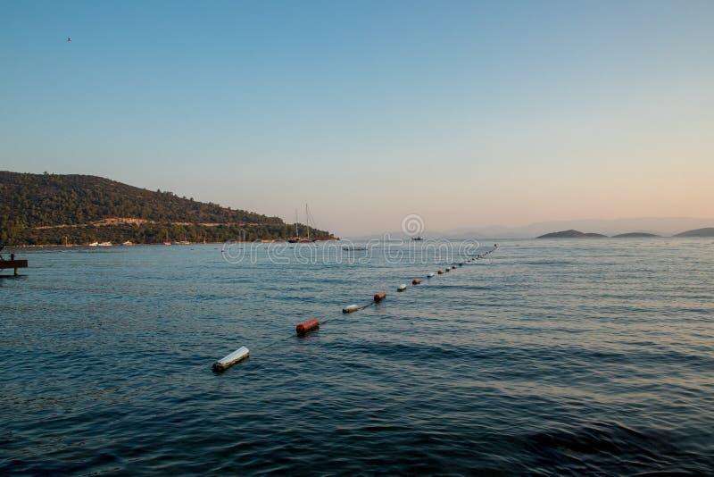 Рай Bodrum Турция туризма моря, песка и солнца стоковое изображение rf