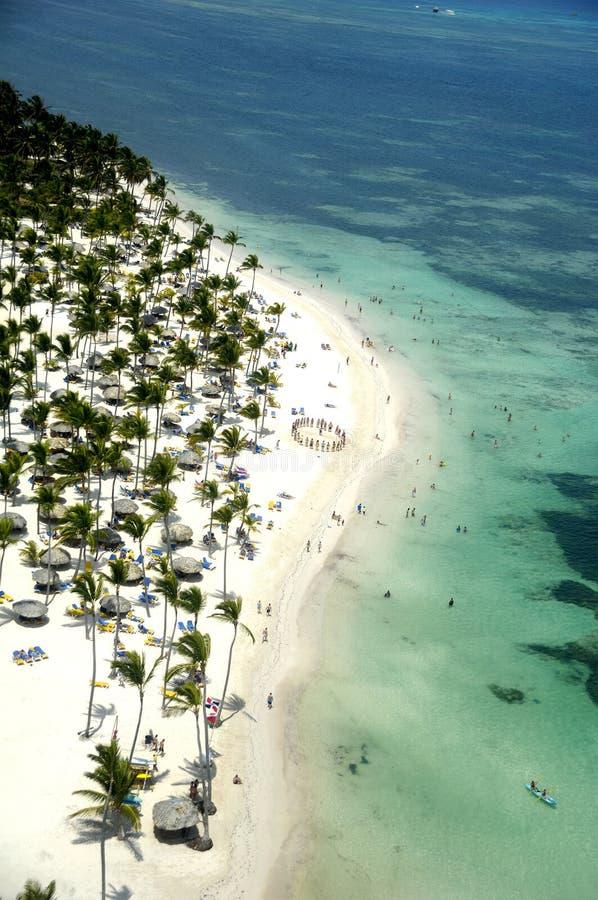 рай caribbean пляжа стоковые изображения