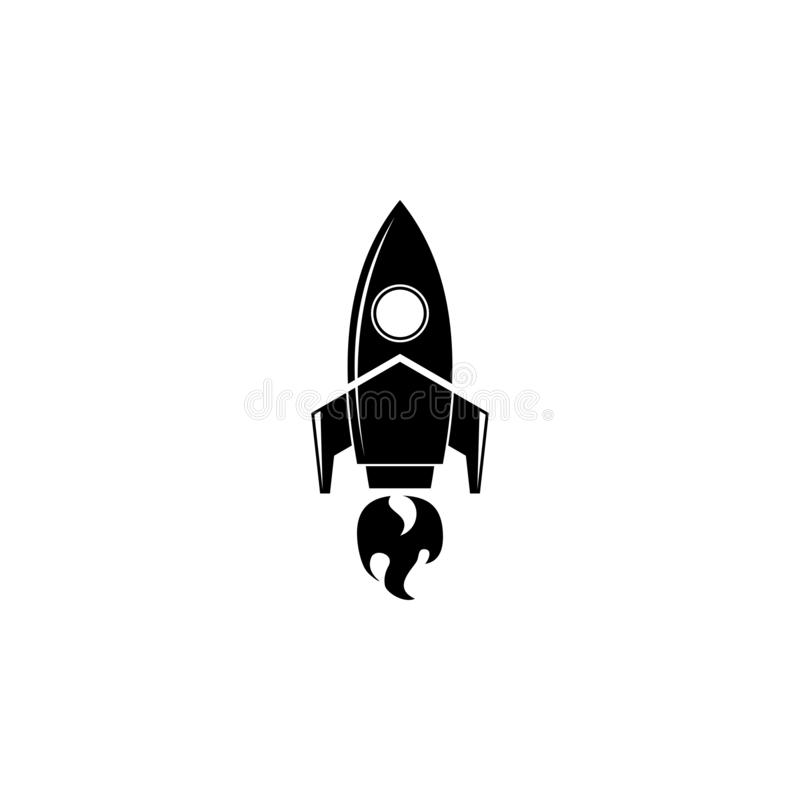 Ракета запустила логотип иллюстрация вектора