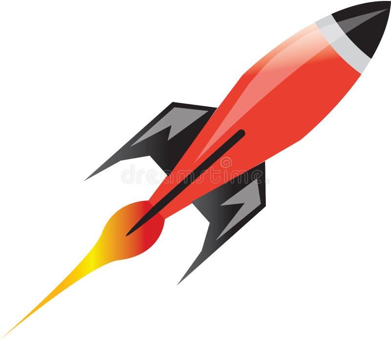 Ракета космоса иллюстрация вектора