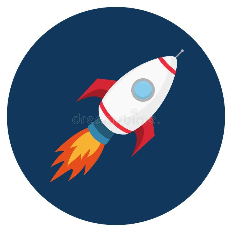 Ракета летания Запуск или старт концепции дела бесплатная иллюстрация