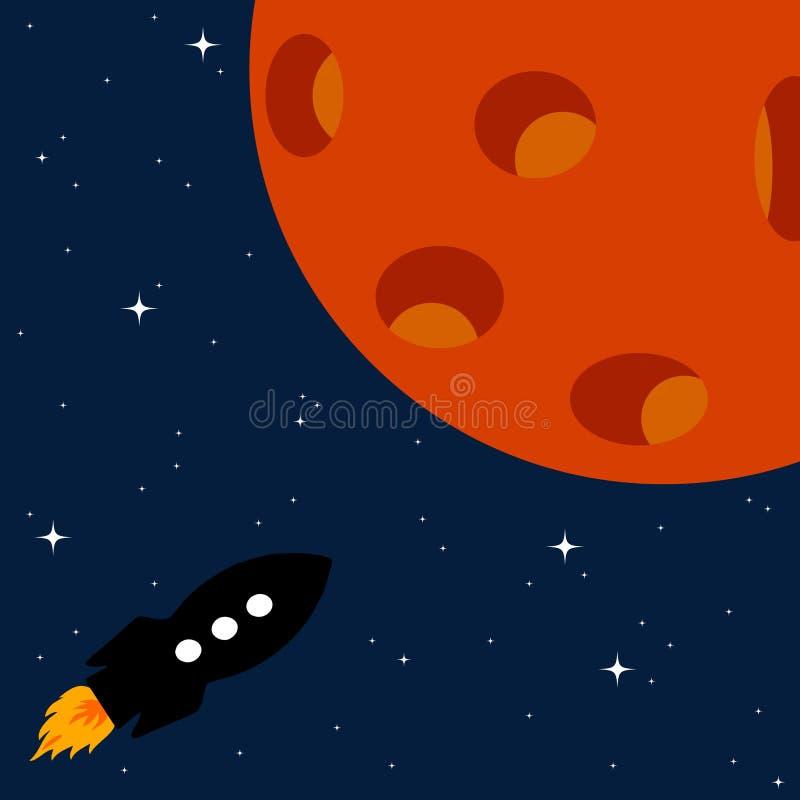 Ракета планеты иллюстрация вектора