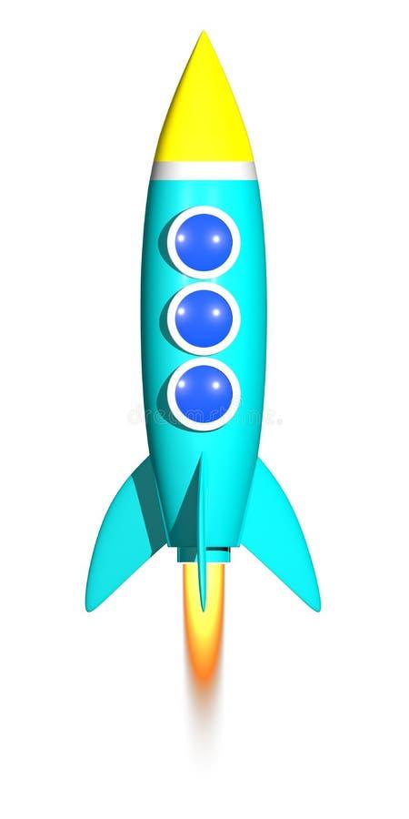 Ракета 3D представляет иллюстрация вектора