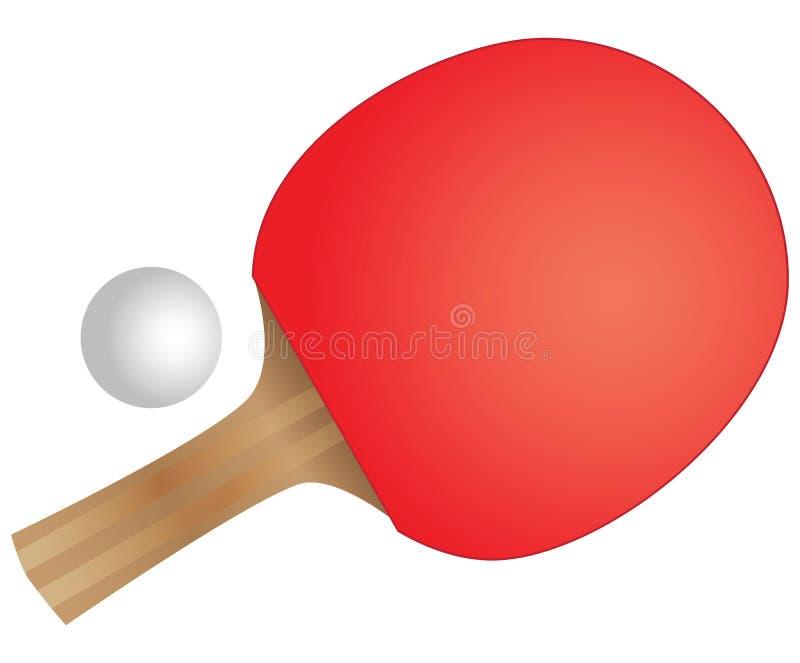 Ракетка настольного тенниса иллюстрация вектора