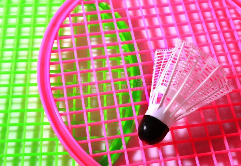 Ракетка ребенка с шариком shuttlecock стоковые изображения