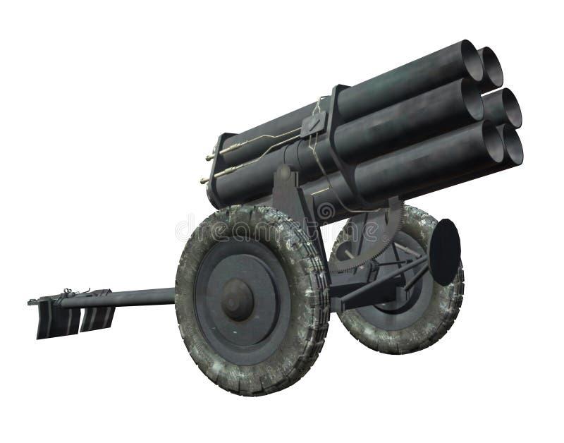 Ракетная установка иллюстрация вектора