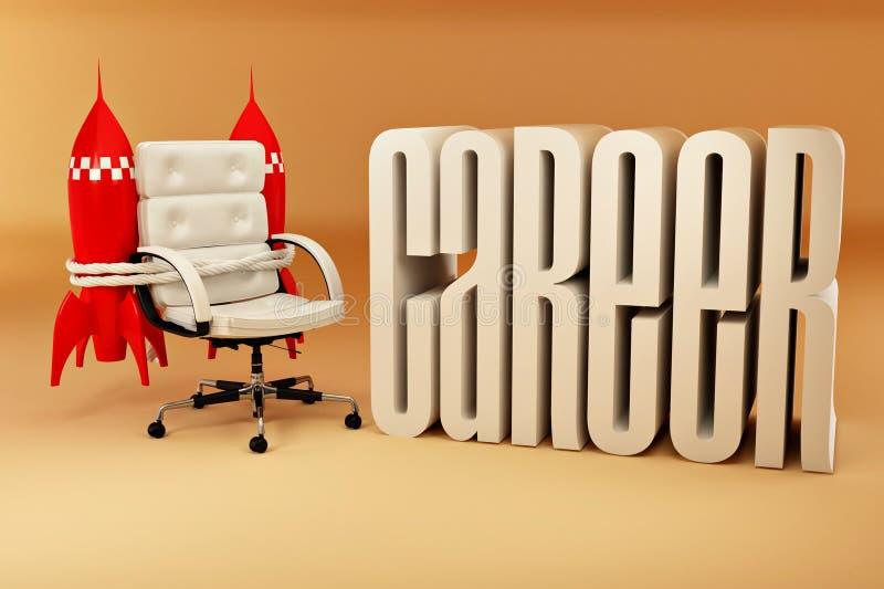 ракеты возможностей офиса карьеры кресла иллюстрация штока