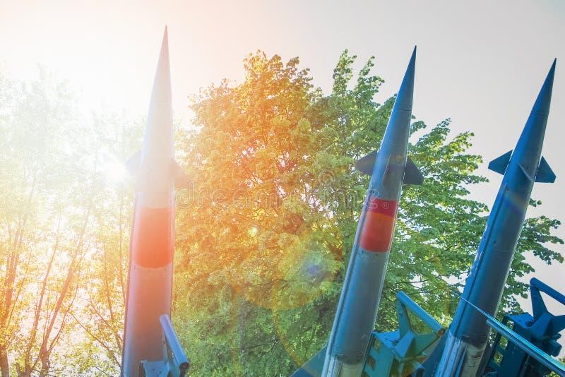 Ракеты в музее стоковое изображение rf