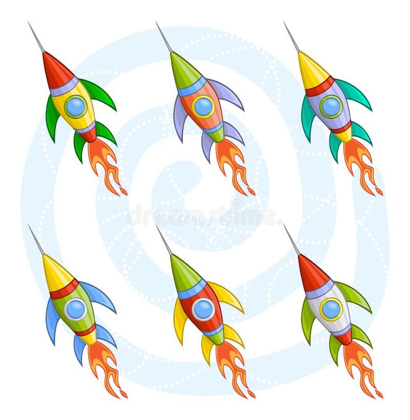 ракеты шаржа иллюстрация вектора