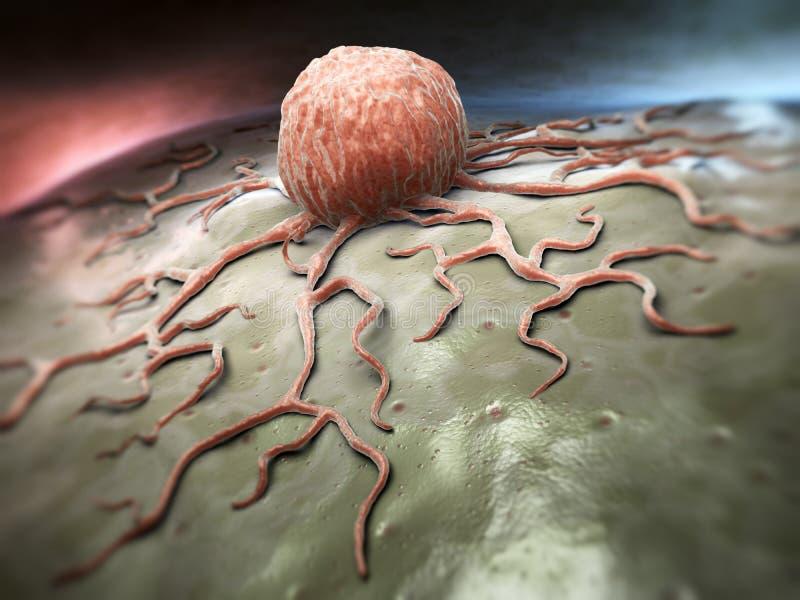 Раковая клетка иллюстрация вектора
