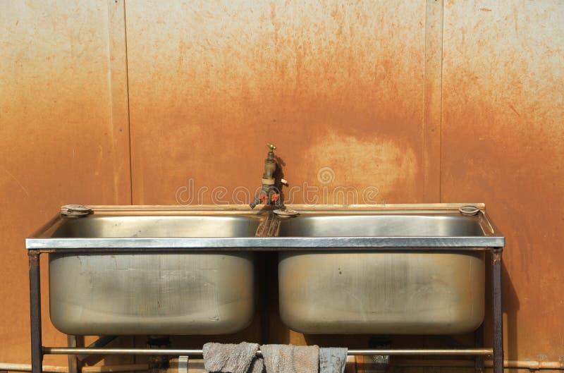 раковина захолустья стоковое изображение rf