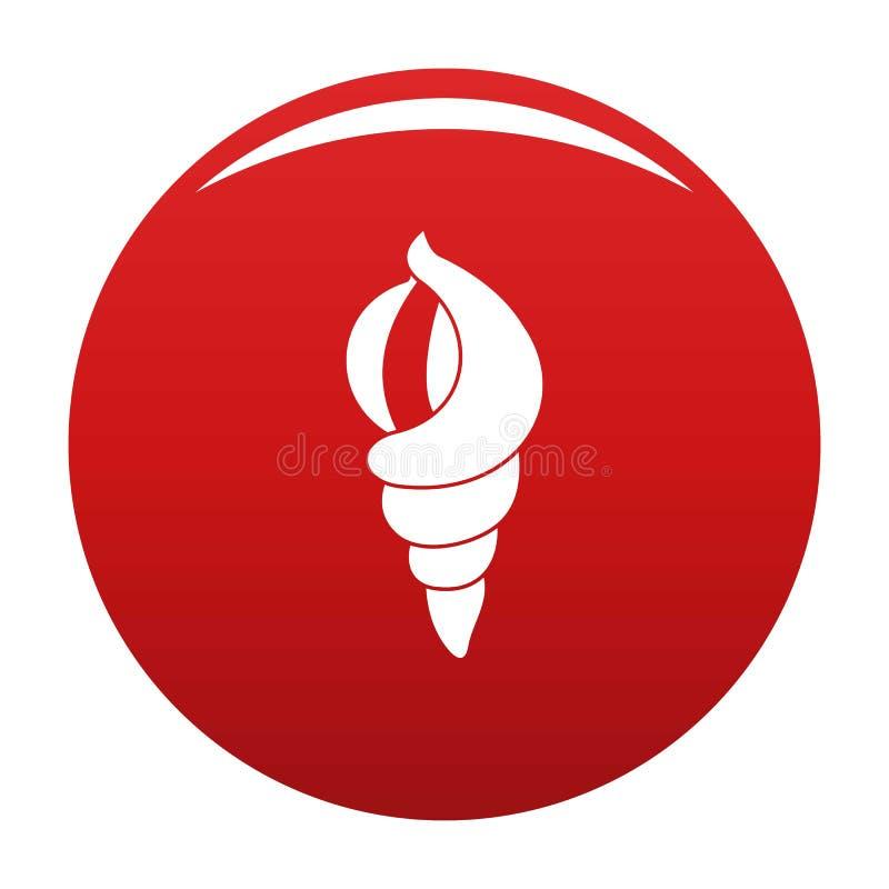 Раковина как красный цвет вектора значка дома бесплатная иллюстрация