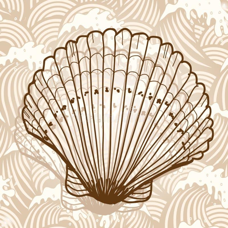 раковина моря иллюстрация штока