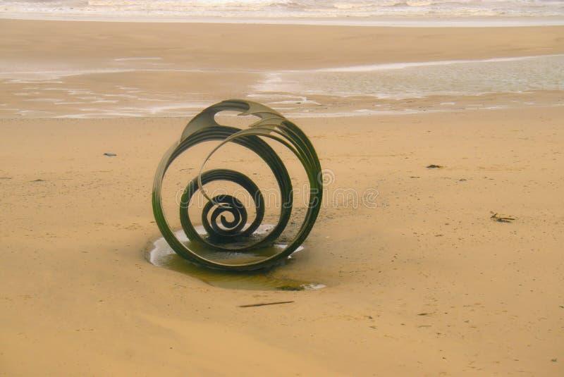Раковина ` s Mary на пляже ` s Cleveley стоковое изображение rf