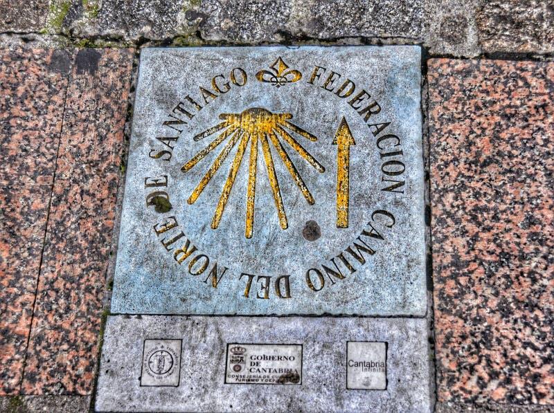 раковина santiago трассы pilmgrim стоковые фото