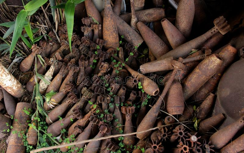 Раковины бомбы стоковые изображения rf