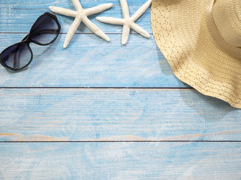 Раковины, морские звёзды, шляпы Идеи праздника стоковое изображение