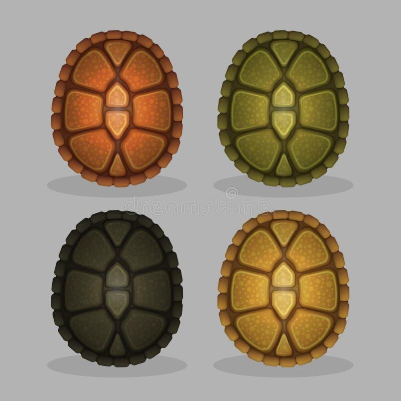 Раковины морской черепахи океана иллюстрация вектора