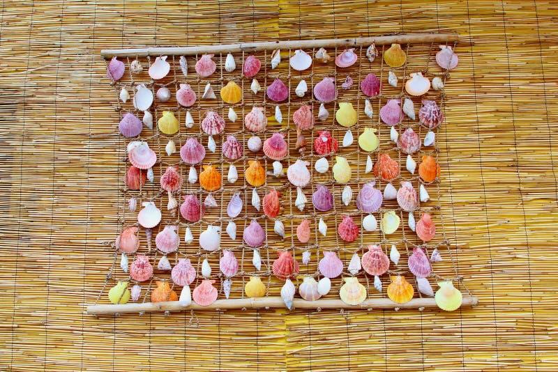 Раковины моря украшения, бамбук, сила цветка стоковая фотография