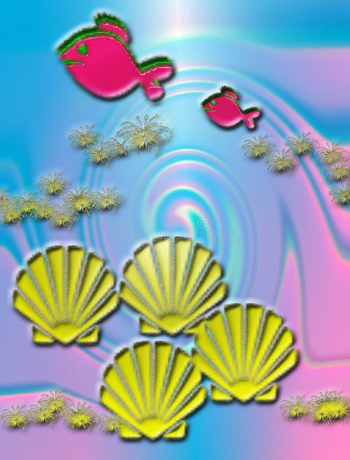 раковины рыб иллюстрация вектора