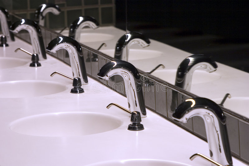 раковины 1 ванной комнаты стоковое фото