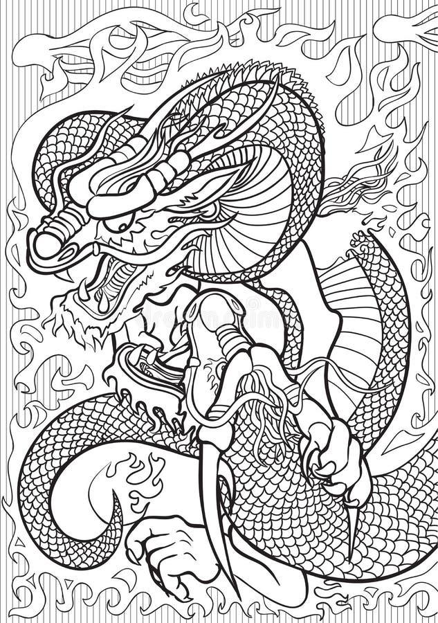 драконы иллюстрация вектора
