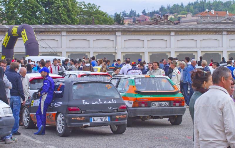 ралли гонки monferrato casale стоковое изображение