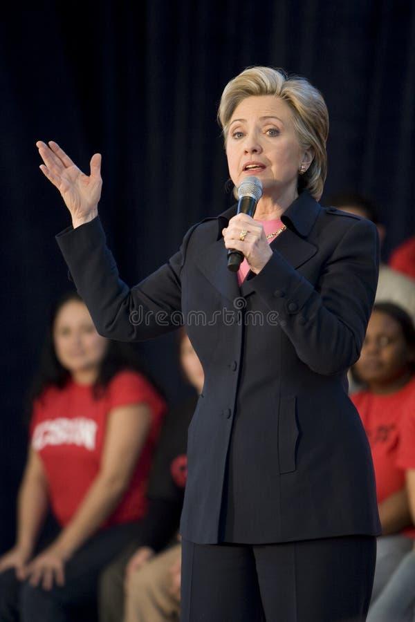 ралли Клинтона hillary стоковая фотография