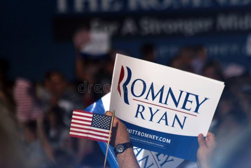Ралли Mitt Romney стоковые фотографии rf