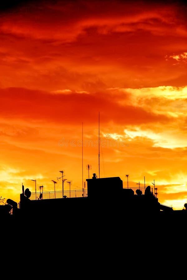 драматическое небо стоковое изображение rf
