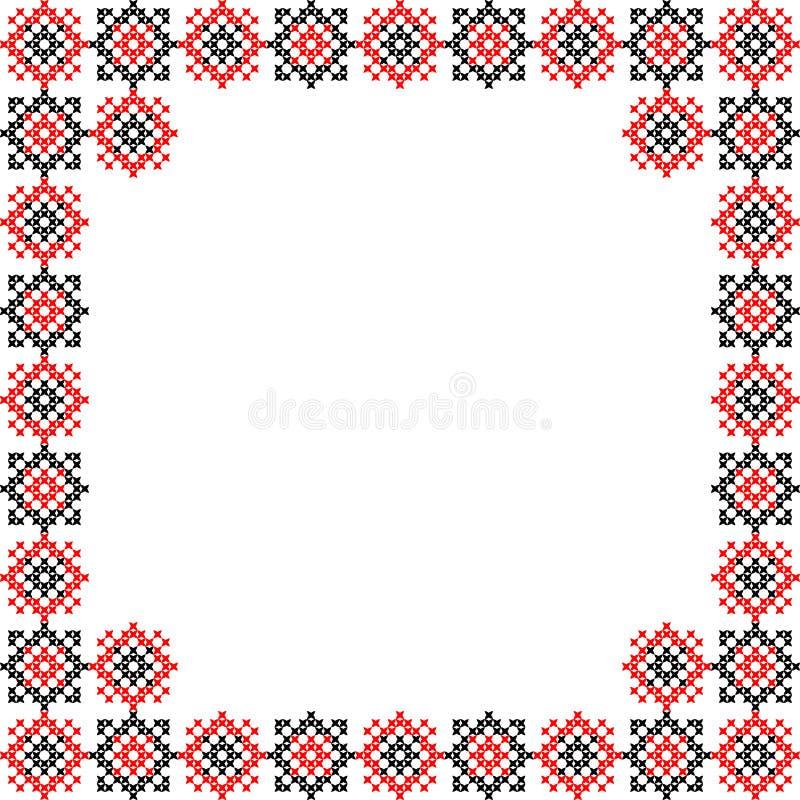 Рамка, абстрактная вышивка стоковое фото rf