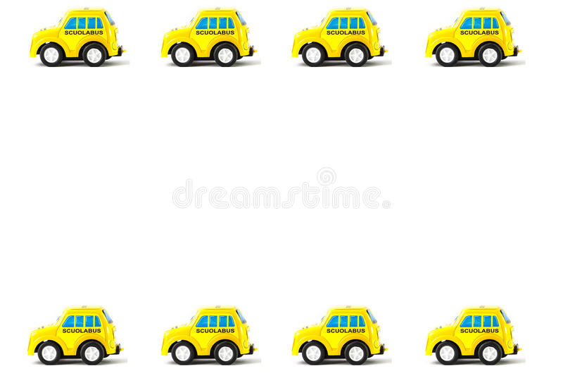 Рамка автомобиля игрушки Schoolbus иллюстрация вектора