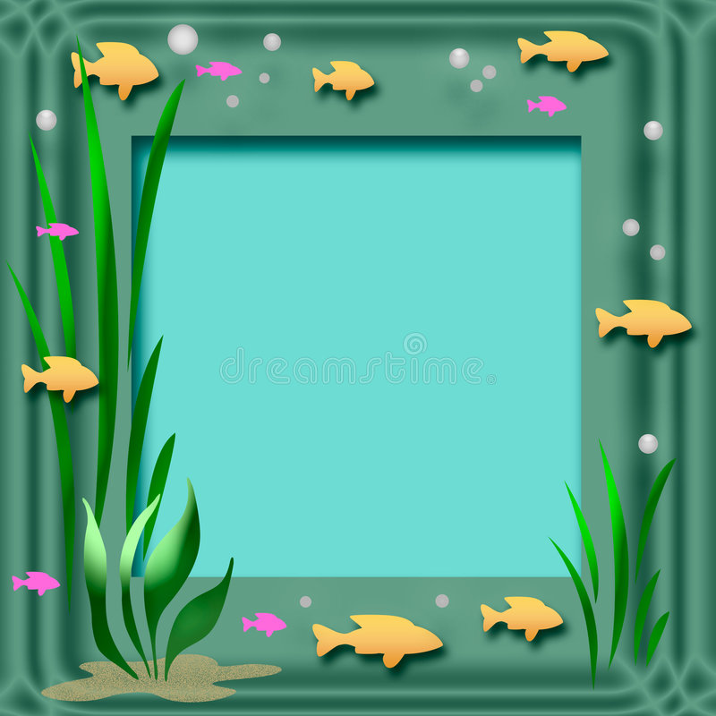 рамка аквариума иллюстрация вектора