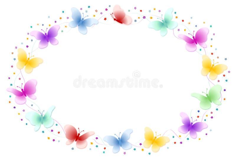 рамка бабочки иллюстрация штока