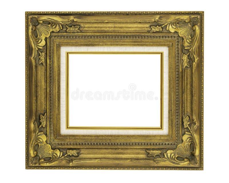 рамка богато украшенного винтажного стиля 8 x 10 золотая стоковое фото rf