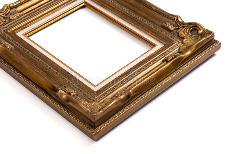Рамка богато украшенного винтажного стиля золотая стоковая фотография rf
